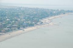 Вид с самолёта на побережье