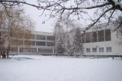 Площадь дворца культуры зимой