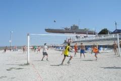 Пляжный волейбол на набережной Приморско-Ахтарска